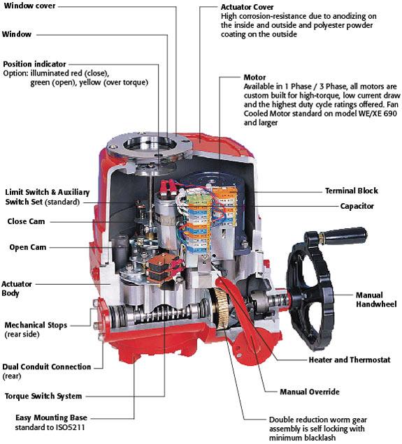 triac we xe electric actuator flosource inc rh flosource com Pneumatic Actuator Diagram Motorized Valve Actuator